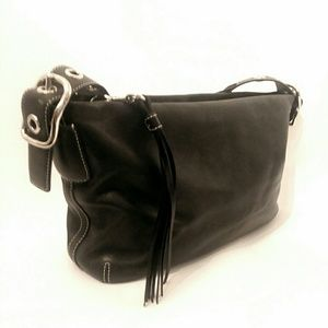 Coach shoulder bag leather small purse handbag